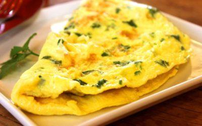 Omelette aux herbes à lutéine